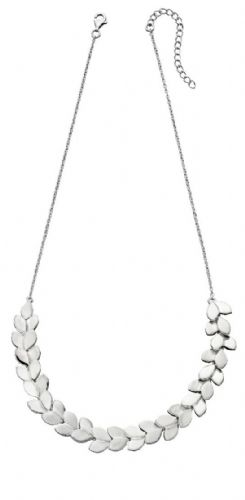 Silver Overlaping Leaf Necklace